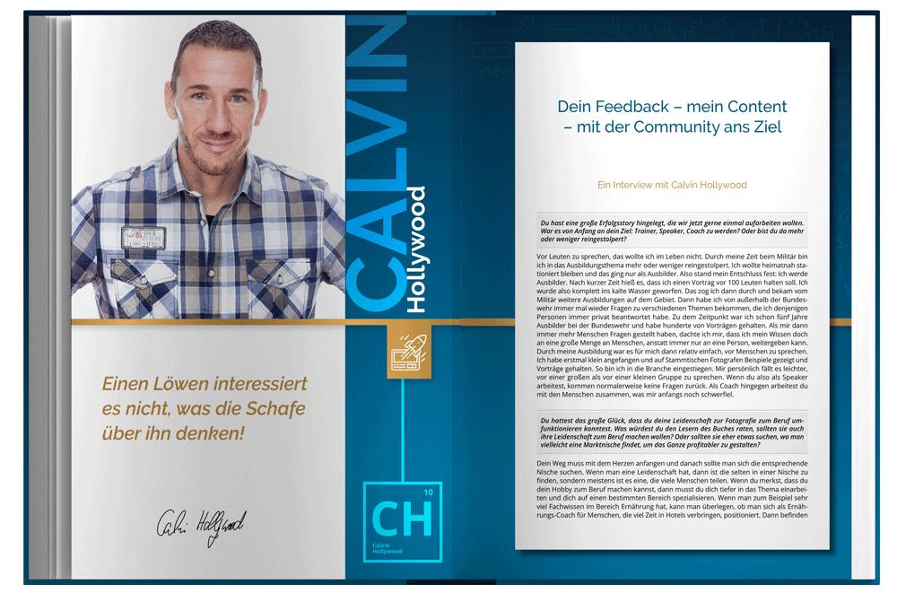 Blick ins Buch: Kapitel von Calvin Hollywood